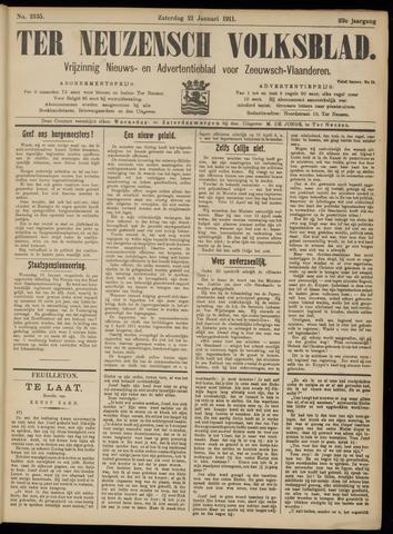 Ter Neuzensch Volksblad. Vrijzinnig nieuws- en advertentieblad voor Zeeuwsch- Vlaanderen / Zeeuwsch Nieuwsblad. Nieuws- en advertentieblad voor Zeeland 1911-01-21