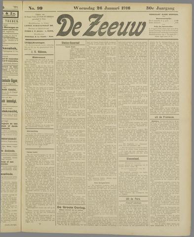 De Zeeuw. Christelijk-historisch nieuwsblad voor Zeeland 1916-01-26