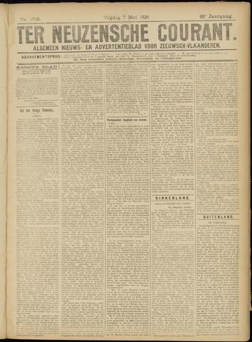 Ter Neuzensche Courant. Algemeen Nieuws- en Advertentieblad voor Zeeuwsch-Vlaanderen / Neuzensche Courant ... (idem) / (Algemeen) nieuws en advertentieblad voor Zeeuwsch-Vlaanderen 1926-05-07