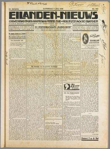 Eilanden-nieuws. Christelijk streekblad op gereformeerde grondslag 1938-07-09