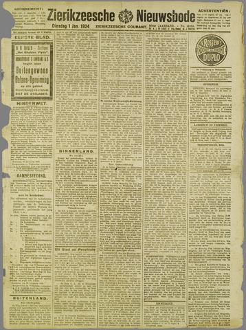 Zierikzeesche Nieuwsbode 1924-01-01