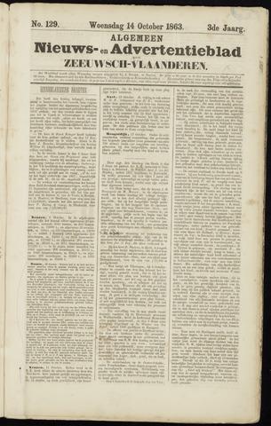 Ter Neuzensche Courant. Algemeen Nieuws- en Advertentieblad voor Zeeuwsch-Vlaanderen / Neuzensche Courant ... (idem) / (Algemeen) nieuws en advertentieblad voor Zeeuwsch-Vlaanderen 1863-10-14