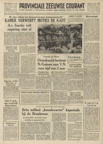 Provinciale Zeeuwse Courant 1962-04-06