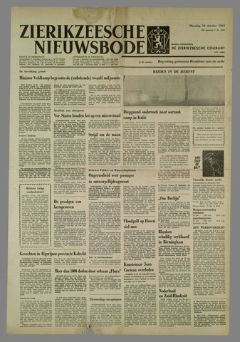 Zierikzeesche Nieuwsbode 1963-10-14