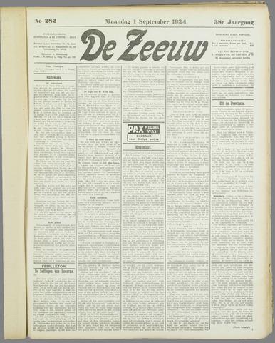 De Zeeuw. Christelijk-historisch nieuwsblad voor Zeeland 1924-09-01