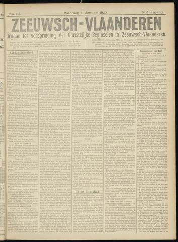 Luctor et Emergo. Antirevolutionair nieuws- en advertentieblad voor Zeeland / Zeeuwsch-Vlaanderen. Orgaan ter verspreiding van de christelijke beginselen in Zeeuwsch-Vlaanderen 1920-01-31