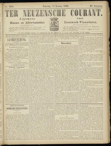 Ter Neuzensche Courant. Algemeen Nieuws- en Advertentieblad voor Zeeuwsch-Vlaanderen / Neuzensche Courant ... (idem) / (Algemeen) nieuws en advertentieblad voor Zeeuwsch-Vlaanderen 1890-10-11