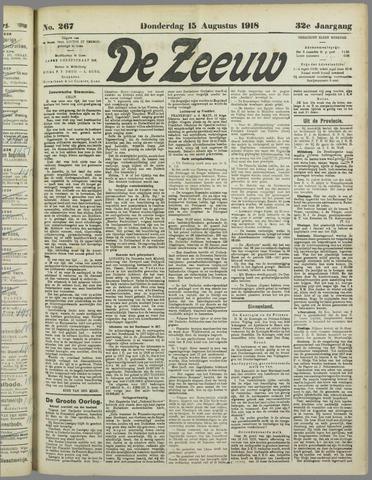 De Zeeuw. Christelijk-historisch nieuwsblad voor Zeeland 1918-08-15