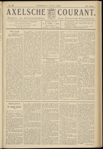 Axelsche Courant 1933-07-07