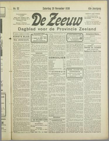 De Zeeuw. Christelijk-historisch nieuwsblad voor Zeeland 1930-11-29