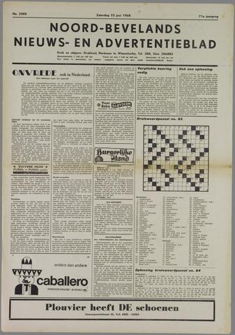 Noord-Bevelands Nieuws- en advertentieblad 1968-06-22