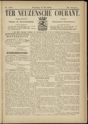 Ter Neuzensche Courant. Algemeen Nieuws- en Advertentieblad voor Zeeuwsch-Vlaanderen / Neuzensche Courant ... (idem) / (Algemeen) nieuws en advertentieblad voor Zeeuwsch-Vlaanderen 1882-05-17