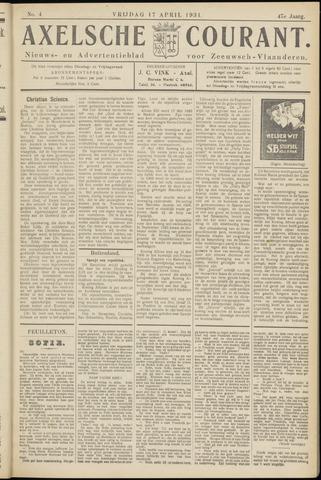 Axelsche Courant 1931-04-17