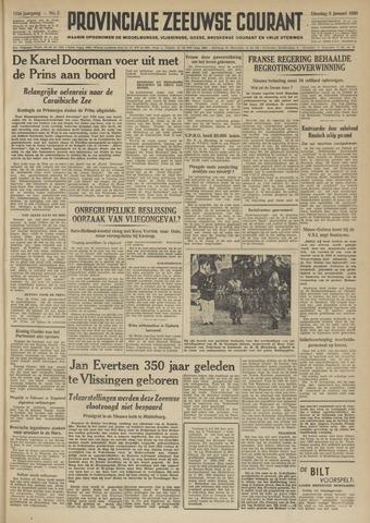 Provinciale Zeeuwse Courant 1950-01-03