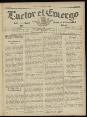 Luctor et Emergo. Antirevolutionair nieuws- en advertentieblad voor Zeeland / Zeeuwsch-Vlaanderen. Orgaan ter verspreiding van de christelijke beginselen in Zeeuwsch-Vlaanderen 1914-03-11