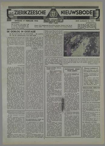 Zierikzeesche Nieuwsbode 1942-02-17