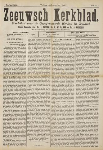 Zeeuwsche kerkbode, weekblad gewijd aan de belangen der gereformeerde kerken/ Zeeuwsch kerkblad 1908-09-04