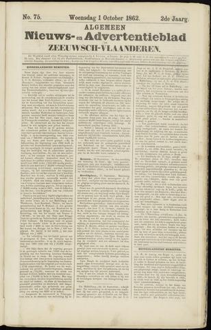 Ter Neuzensche Courant. Algemeen Nieuws- en Advertentieblad voor Zeeuwsch-Vlaanderen / Neuzensche Courant ... (idem) / (Algemeen) nieuws en advertentieblad voor Zeeuwsch-Vlaanderen 1862-10-01