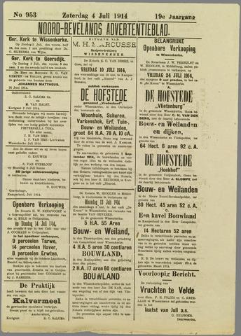 Noord-Bevelands Nieuws- en advertentieblad 1914-07-04
