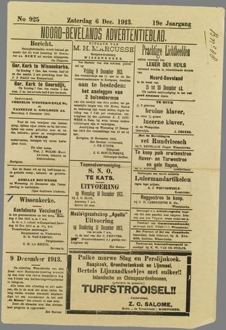 Noord-Bevelands Nieuws- en advertentieblad 1913-12-06
