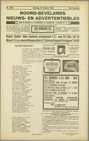 Noord-Bevelands Nieuws- en advertentieblad 1938-02-12