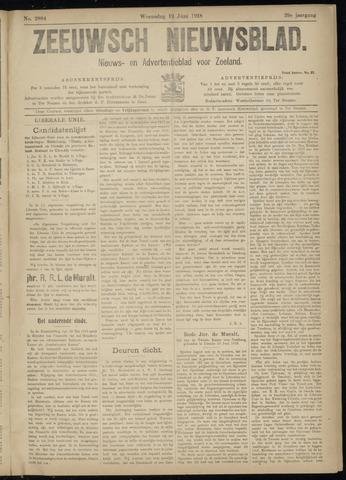Ter Neuzensch Volksblad. Vrijzinnig nieuws- en advertentieblad voor Zeeuwsch- Vlaanderen / Zeeuwsch Nieuwsblad. Nieuws- en advertentieblad voor Zeeland 1918-06-12