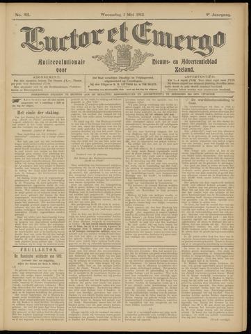 Luctor et Emergo. Antirevolutionair nieuws- en advertentieblad voor Zeeland / Zeeuwsch-Vlaanderen. Orgaan ter verspreiding van de christelijke beginselen in Zeeuwsch-Vlaanderen 1912-05-01