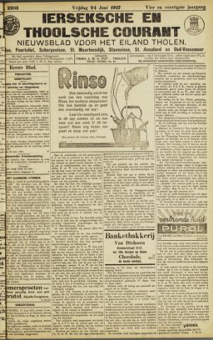 Ierseksche en Thoolsche Courant 1927-06-24