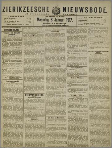 Zierikzeesche Nieuwsbode 1917-01-08