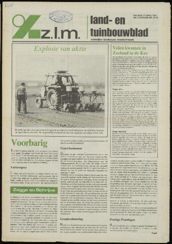 Zeeuwsch landbouwblad ... ZLM land- en tuinbouwblad 1981-04-17
