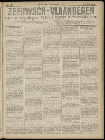 Luctor et Emergo. Antirevolutionair nieuws- en advertentieblad voor Zeeland / Zeeuwsch-Vlaanderen. Orgaan ter verspreiding van de christelijke beginselen in Zeeuwsch-Vlaanderen 1919-09-03