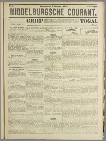 Middelburgsche Courant 1927-01-05