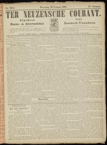 Ter Neuzensche Courant. Algemeen Nieuws- en Advertentieblad voor Zeeuwsch-Vlaanderen / Neuzensche Courant ... (idem) / (Algemeen) nieuws en advertentieblad voor Zeeuwsch-Vlaanderen 1887-02-23