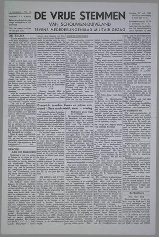 Vrije Stemmen van Schouwen-Duiveland, tevens mededeelingenblad Militair Gezag 1945-07-17