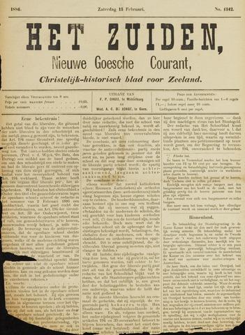 Het Zuiden, Christelijk-historisch blad 1886-02-13