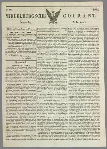 Middelburgsche Courant 1865-02-09