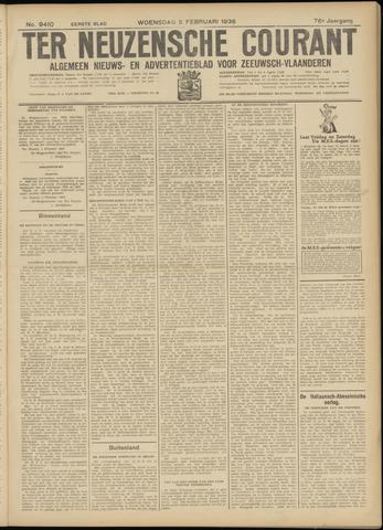 Ter Neuzensche Courant. Algemeen Nieuws- en Advertentieblad voor Zeeuwsch-Vlaanderen / Neuzensche Courant ... (idem) / (Algemeen) nieuws en advertentieblad voor Zeeuwsch-Vlaanderen 1936-02-05