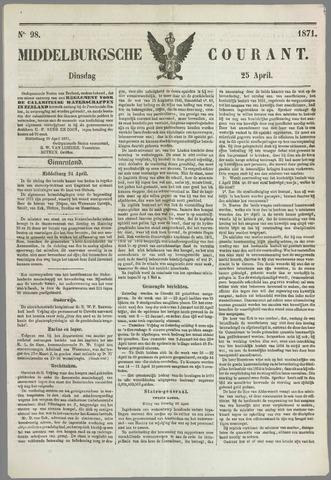 Middelburgsche Courant 1871-04-25