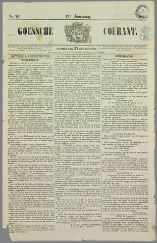 Goessche Courant 1855-09-27