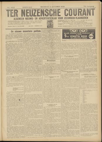 Ter Neuzensche Courant. Algemeen Nieuws- en Advertentieblad voor Zeeuwsch-Vlaanderen / Neuzensche Courant ... (idem) / (Algemeen) nieuws en advertentieblad voor Zeeuwsch-Vlaanderen 1936-10-05