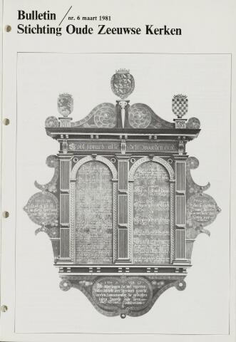 Bulletin Stichting Oude Zeeuwse kerken 1981