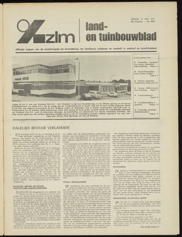 Zeeuwsch landbouwblad ... ZLM land- en tuinbouwblad 1971-07-09