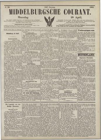 Middelburgsche Courant 1902-04-28