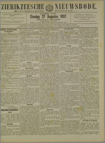 Zierikzeesche Nieuwsbode 1907-08-27