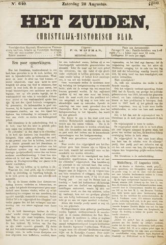 Het Zuiden, Christelijk-historisch blad 1880-08-28