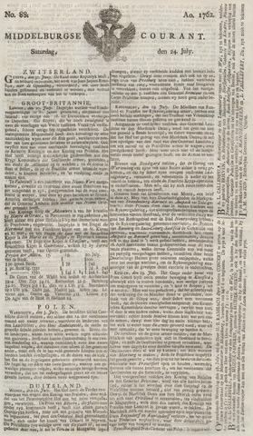 Middelburgsche Courant 1762-07-24