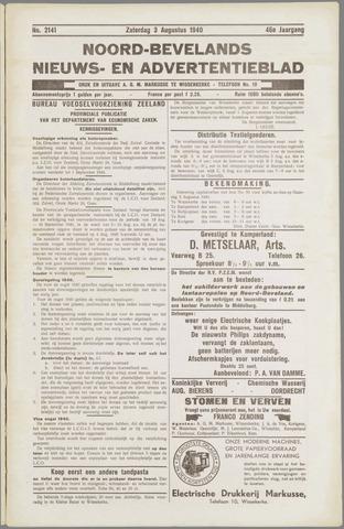 Noord-Bevelands Nieuws- en advertentieblad 1940-08-03