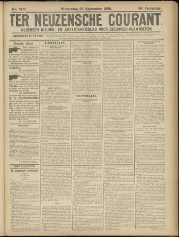 Ter Neuzensche Courant. Algemeen Nieuws- en Advertentieblad voor Zeeuwsch-Vlaanderen / Neuzensche Courant ... (idem) / (Algemeen) nieuws en advertentieblad voor Zeeuwsch-Vlaanderen 1928-09-26