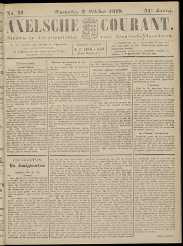 Axelsche Courant 1918-10-02