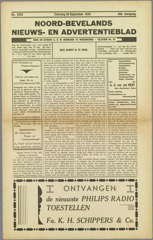 Noord-Bevelands Nieuws- en advertentieblad 1933-09-16
